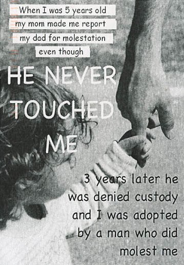 My dad touched me